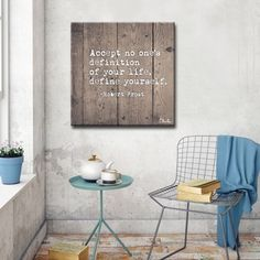 Shop for Ready2HangArt Wrapped Canvas Inspirational Wall Art - Define Yourself. Get free delivery at Overstock.com - Your Online Art Gallery Store! Get 5% in rewards with Club O! - 21131320