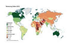Economist Intelligence Unit Democracy Index Map 2016 Political Participation, Political Culture, Heat Map, Historical Pictures, Cartography, Planer, The Unit, World, Africa