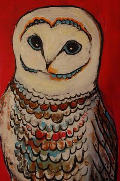 Owl color art