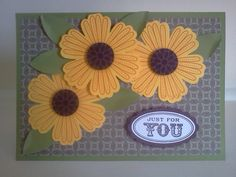 Mixed Bunch Sunflowers by Sarah B - Cards and Paper Crafts at Splitcoaststampers