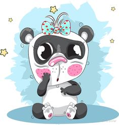 Cute cartoon Panda hand drawn by Chris olivier Cartoon Panda, Cute Cartoon, Cartoon Rabbit, Cute Baby Girl, Cute Babies, Cute Panda, Canvas Prints, Art Prints, Art Boards