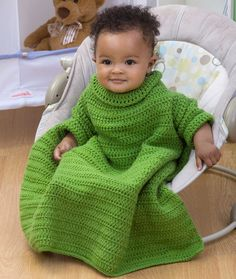 Crochet Baby Snuggle Up with Sleeves - made one for my daughter, nice but came out HUGE. would prob fit my 3yr old now as a robe
