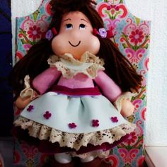 boneca em goma e.v.a
