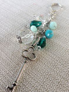 Beaded Keychain / Purse Bling / Purse Charm on Etsy, $10.00