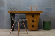 Paul Laszlo Brown Saltman Desk : 20th Century Vintage Industrial Modern50 Style