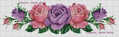 Cross Stitch Rose, Cross Stitch Borders, Cross Stitch Flowers, Cross Stitch Designs, Cross Stitching, Cross Stitch Embroidery, Cross Stitch Patterns, Diy And Crafts, Arts And Crafts