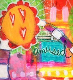 "closeup of page ""Amusements"" by Dori Patrick"