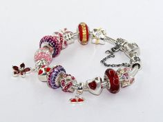 Sterling Silver Romantic season Charms Beads and Pendant Bracelets