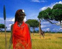#African: Maasai tribesman, Kenya, Africa.