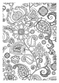 Free coloring page coloring-adult-flowers-zen. Pretty strange flowers letting you dreaming while coloring