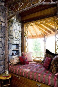 Cottage Reading Alcove, Adirondacks, New York photo via melanie