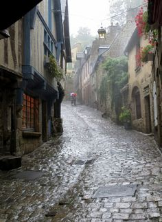 Dinan, France ,on a rainy day ! by hi, im pez A road trip through Brittany France is a remarkable experience that offers an introduction to an alternative Rainy Day Photography, Rain Photography, Beauty Photography, White Photography, Rainy Mood, Rainy Night, Beautiful World, Beautiful Places, I Love Rain