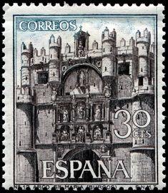 Engraved by Terrizade Coca Spain Facade Santa Maria Burgos-1965