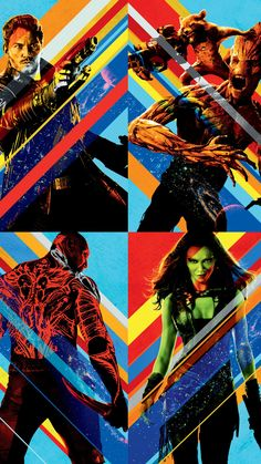 Guardians of The Galaxy Line Up Gamora Peter Quill Rocket Drax Groot Montage 11 x 17 Poster Litho Ms Marvel, Marvel Art, Marvel Heroes, Marvel Movies, Marvel Avengers, Marvel Characters, Marvel Universe, Gardians Of The Galaxy, Galaxy Movie