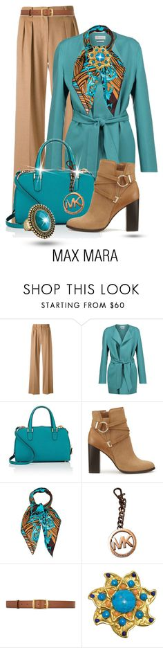 """Wardrobe Staples"" by shamrockclover ❤ liked on Polyvore featuring MaxMara, Valextra, Miss Selfridge, Versace, Michael Kors, STELLA McCARTNEY, Yves Saint Laurent and Avon"