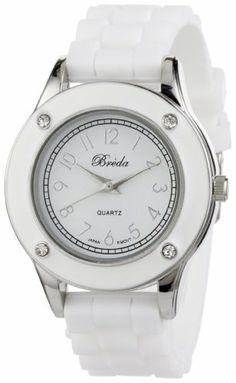 "Breda Women's 2282_white ""Whitney"" Rhinestone Jelly Sport Watch Breda. Save 30 Off!. $23.10"