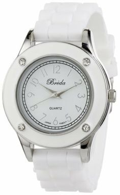"Breda Women's 2282_white ""Whitney"" Rhinestone Jelly Sport Watch Breda. $23.10. Save 30% Off!"