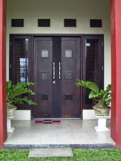 Double Front Door Entrance Decor 66 New Ideas Exterior Design, Terrace Decor, Minimalist Home, House Exterior, Entrance Decor, Entrance Door Design, Door Design Interior, Main Door, Doors Interior