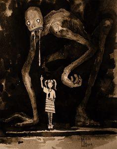 arte oscuro Visual Necromancy: The Amazing Art By Boris Groh Scary Drawings, Dark Art Drawings, Fantasy Kunst, Dark Fantasy Art, Arte Horror, Horror Art, Dark Art Illustrations, Illustration Art, Horror Drawing