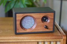 Walnut Wood Speaker | Bluetooth Speaker | Desk Speaker | Expandable Speaker System | Charcoal