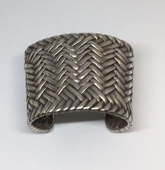 Ralph Lauren Heavy Weave Sterling Silver Cuff RARE! #RalphLauren #Cuff