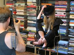 Books of style!  Dream of this library! • Kelly Wearstler photo shoot.