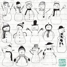 Christmas Snowman Clipart - Christmas Clipart - Christmas Planner Stickers - Snowmen illustrations - Christmas Snow PNG - 116 - Cuaderno de tareas, dibujos a lápiz Christmas Doodles, Christmas Drawing, Christmas Clipart, Christmas Snowman, Christmas Ornaments, Etsy Christmas, Clipart Noel, Snowman Clipart, Planner Stickers