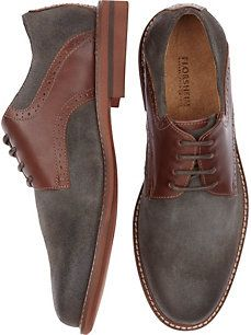 Florsheim Gray and Brown Lace Up Dress Shoes