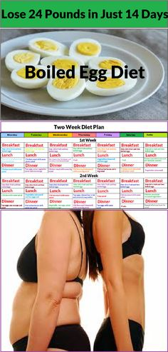 Lose 24 Pounds in Just 14 Days! Boiled Egg Diet