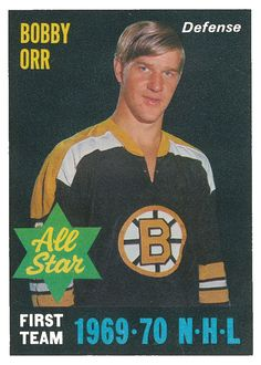 Bobby Orr of the Boston Bruins dominated the National Hockey League in O-Pee-Chee celebrated his achievements with six hockey cards in Stars Hockey, Sports Stars, Hockey Teams, Ice Hockey, Hockey Baby, Hockey Stuff, Bobby Orr, Boston Bruins Hockey, Olympic Games Sports