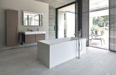 Wer Platz hat im Bad, kann mit einer frei stehenden Badewanne glänzen. Was sowas kostet, verrät der Kostencheck auf www.wohn-dir-was.de  Bildmaterial (c) DURAVIT