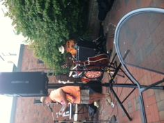 On the Patio with Brian Tremblay and me in the bushes 8/30/12.