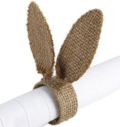 anneau serviette lapin