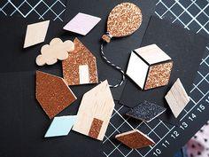 Wooden broochs // Les Moustachoux: Cadeau fait main, les broches en bois DIY