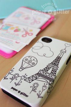 Paris iPhone Case by PAPER*GLITTER