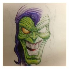 Just starting this green goblin piece #spiderman #marvel #prismacolours
