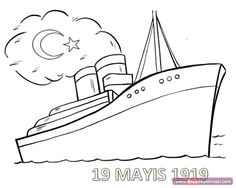 Just Coloring Pages: Coloring book pages ships Printable coloring sheets - A coloring book (or colouring book, or colouring page) is a type of book containing line art to which people are intended to add color using crayons, . Airplane Coloring Pages, Train Coloring Pages, Coloring Book Pages, Coloring Sheets, Cloud Craft, Titanic Ship, Types Of Books, Clip Art, Bullet Journal Ideas Pages