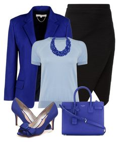 """""""Blues #3"""" by alpate on Polyvore featuring Vanessa Bruno, Michael Kors, Yves Saint Laurent and Humble Chic"""