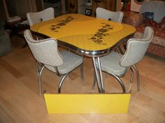 Vintage retro 1950's table & chair set by kathymayville on Etsy, $500.00