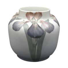 Swedish Art Nouveau vase by Karl Lindstrom for Rorstrand, c1897-1910