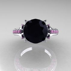 Exclusive 14K White Gold 3.0 Carat Black Diamond by DesignMasters