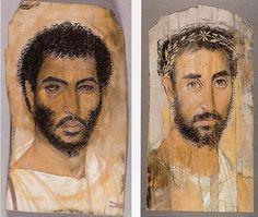 Fajumskie portrety trumienne to portrety wykonywane na płytach drewnianych i przytwierdzane do mumii w miejscu wcześniej stosowanych masek gipsowych. Zwyczaj rozpowszechniony w okresie rzymskim na terenach Egiptu zasiedlonych przez przybyszów z Europy w czasach Aleksandra Macedońskiego. Około 700 portretów znaleziono przede wszystkim w Fajum i w założonym przez cesarza Hadriana Antinoopolis (137 AD). Większość pochodzi z I-IV w. Technika malarska i realizm stanowią zupełną nowość w skali…
