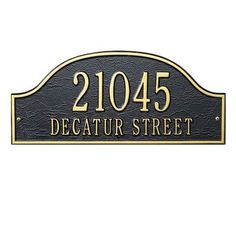 Whitehall Products Admiral Address Plaque Finish: Pewter and Silver