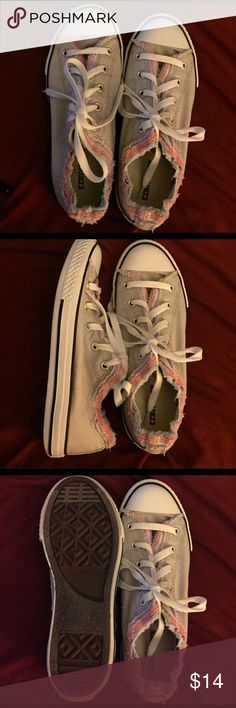 Light gray and pink all stars Woman's size 4 converse all stars in good clean condition Converse Shoes Flats & Loafers