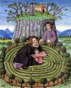 François Habert, L'Amant infortuné (détail), enluminure, 1520-1530, musée Condé, Chantilly © Photo RMN, René-Gabriel Ojéda