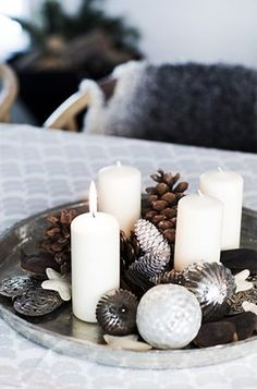 x-mas tray #candlelights