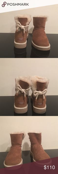 UGG Australia Selene Chestnut Boots Chestnut color short UGG boot, practically new only worn once. They are in excellent condition UGG Shoes Winter & Rain Boots