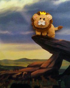 Il re leone... bomboniera in feltro