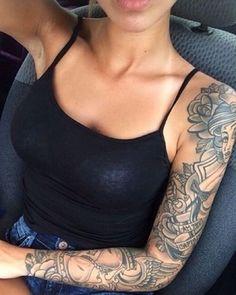 17 Feminine Tattoo Sleeves for Women Everywhere ...