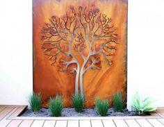 panneau mural de jardin en acier moderne